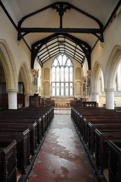 Interior of St Nicholas' church