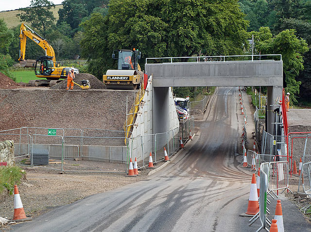 A new bridge for the Borders Railway at Bowland
