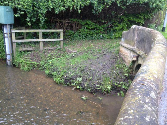 Stream running under Church Lane, Marchington
