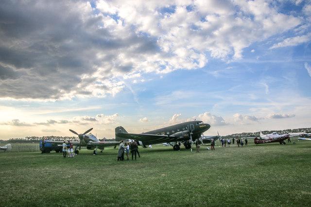 Goodwood Revival 2014 - Hawker Hurricane and Douglas Dakota