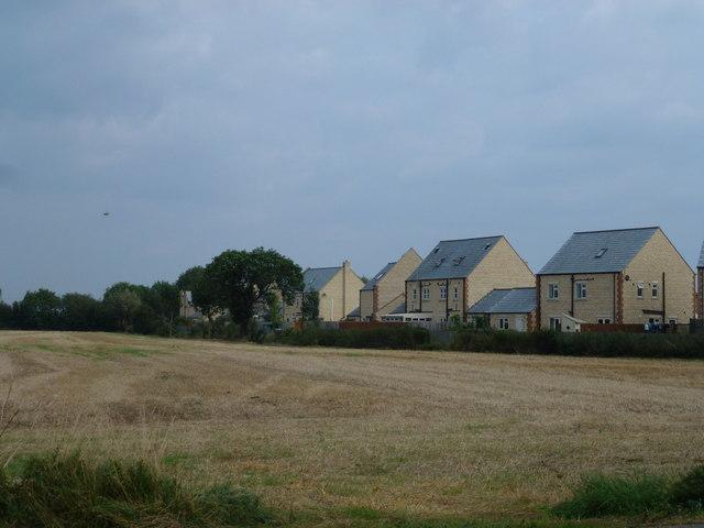 Housing and farmland, Northborough