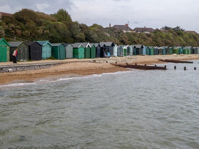Beach Huts near Solent Way, Stubbington, Hampshire