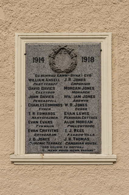 Plaque, Memorial Hall