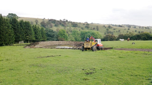 Pond under construction