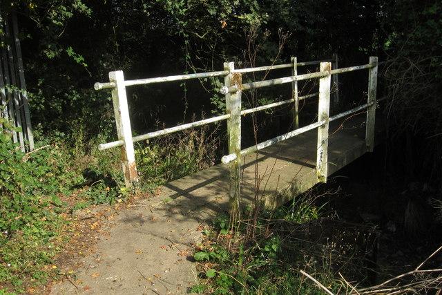 Footbridge on the footpath