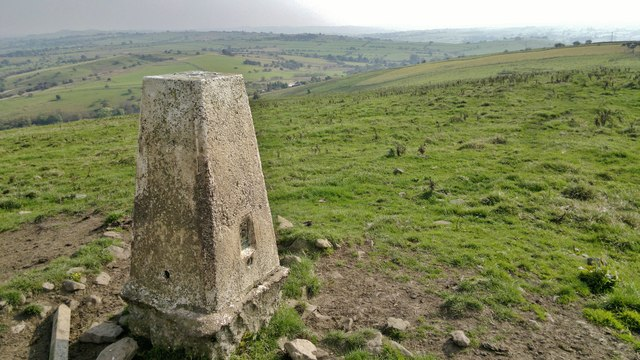 Trig point above Hill House