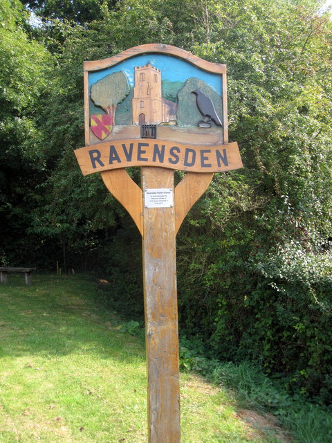 Ravensden Village sign