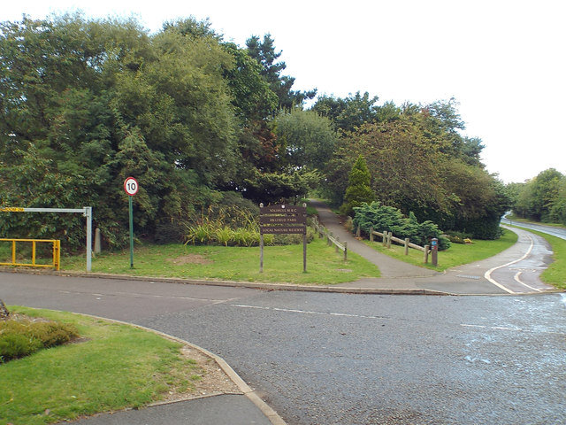 An entrance to Hillfield Park from Monkspath Hall Road