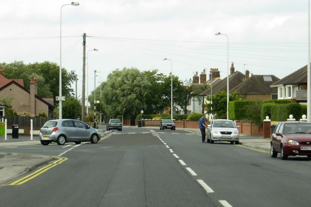 Fleetwood Road North in Burn Naze