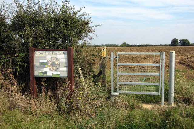 Footpath to Wilden through Crow Hill Farm