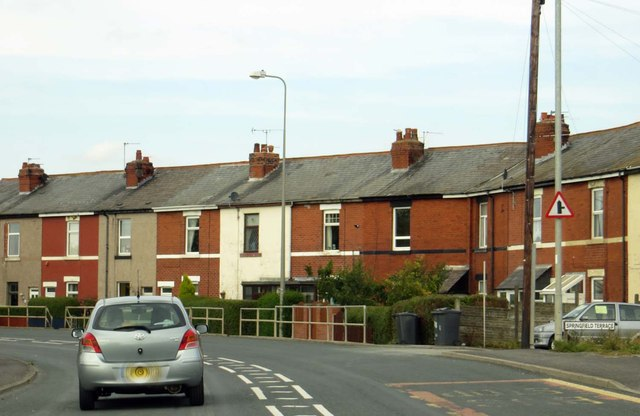 Terraced houses on Fleetwood Road