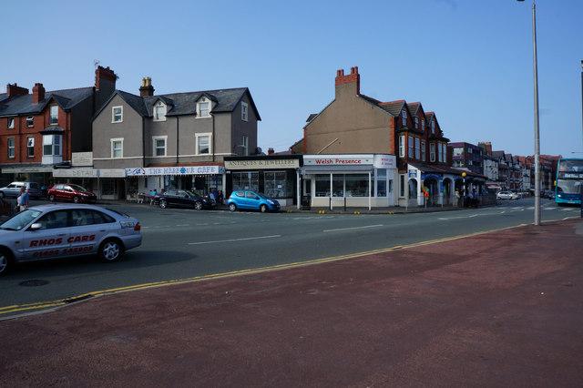 Shops on Rhos Road, Rhôs on Sea