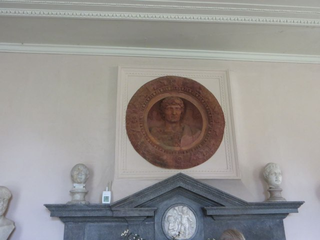 Plate over the fireplace