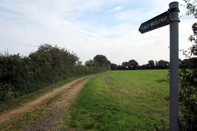 Bridleway towards Roxton