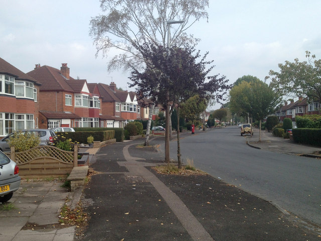 Bend in Welford Road, Shirley