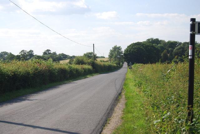 Lane north of Vexour Bridge