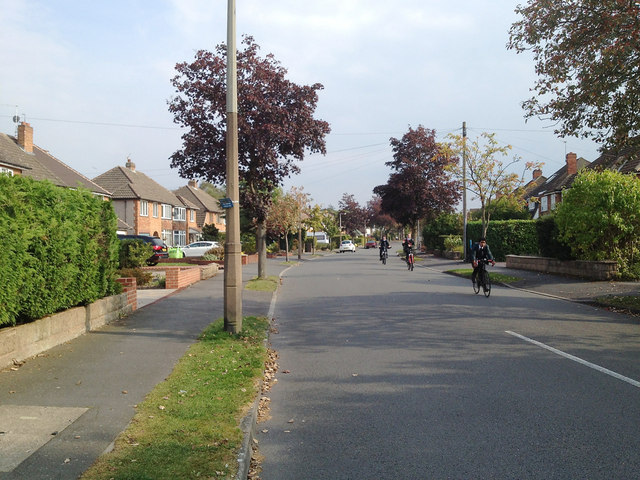Biking home from school, Kingslea Road, Shirley