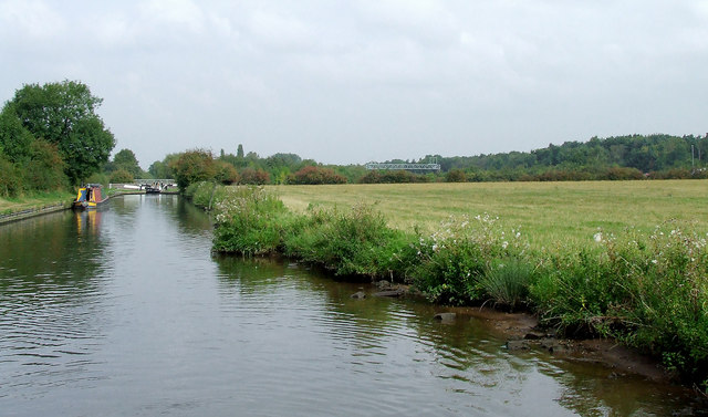 Canal and pasture north of Penkridge, Staffordshire