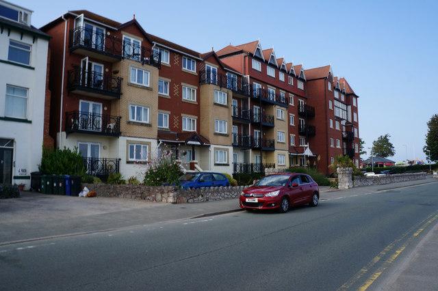 Flats on Rhos Promenade, Rhos on Sea