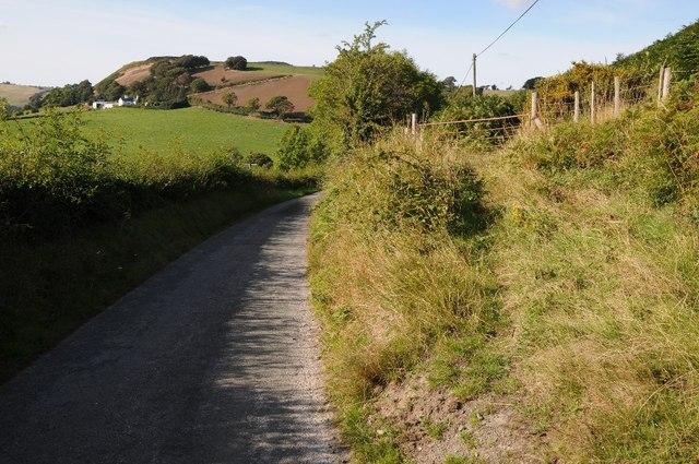 Country road near Llannefydd