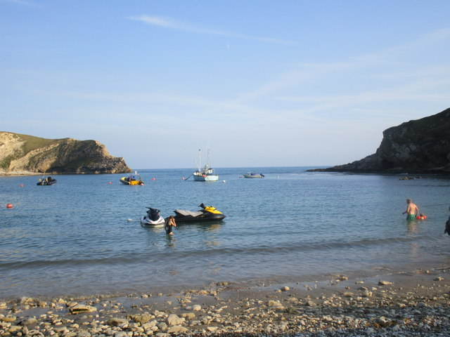 The entrance to Lulworth Cove