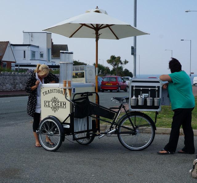 Ice Cream Trike on Marine Drive, Rhos on Sea