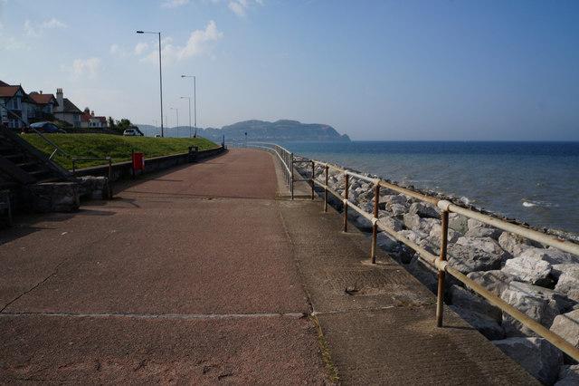 Wales  Coast Path at Penrhyn Bay
