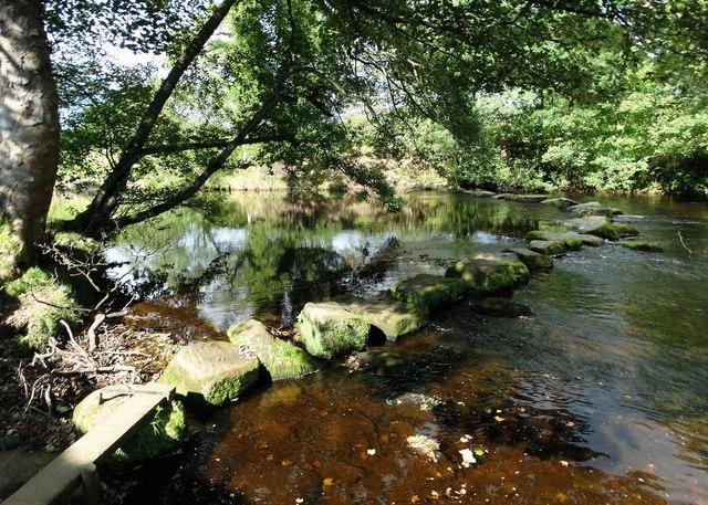 River Derwent Stepping Stones - near Offerton