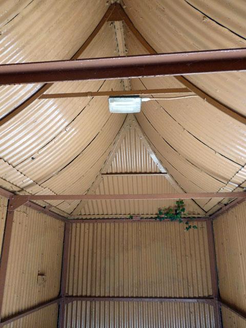 Inside a 'tin pagoda'