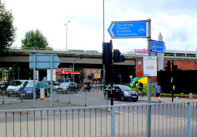 Chiswick Flyover and Roundabout.