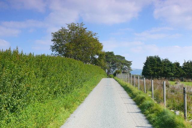 Lon wledig ger Is-Mynydd / Country lane near Is-Mynydd