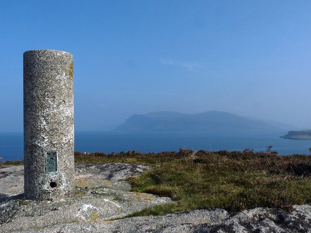 Triangulation pillar, Beinn Liathanach, Isle of Mull