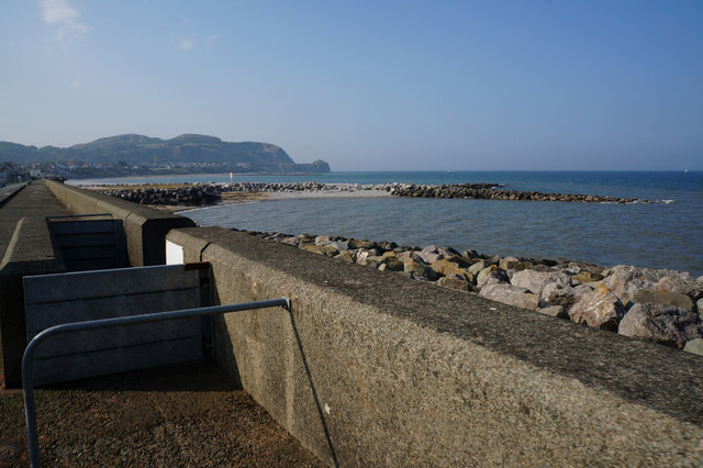 Breakwater at Penrhyn Bay
