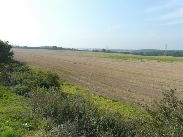 Farmland to the northwest of Hersden recreation ground