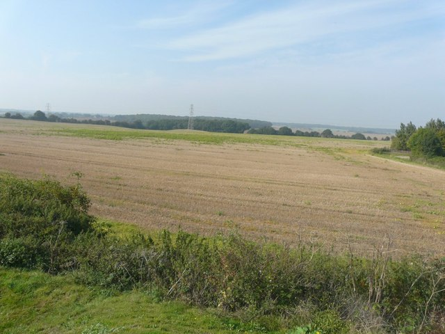 Farmland to the northeast of Hersden recreation ground