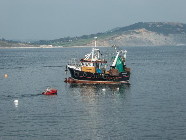 Fishing Boat Returns, Lyme Regis, Dorset