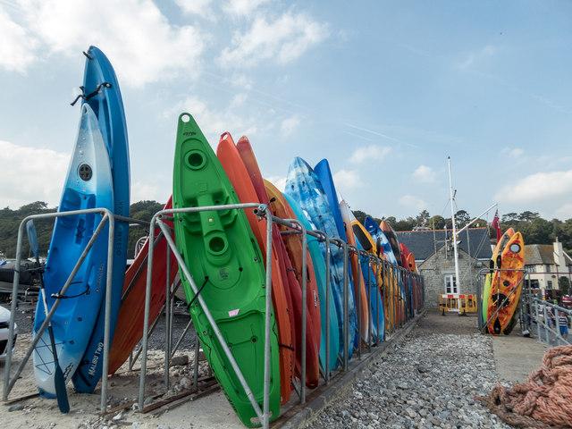 Canoes, The Cobb, Lyme Regis, Dorset