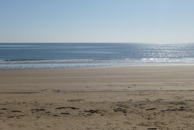 Beach from Togston Links