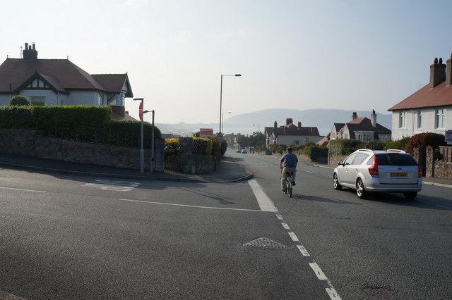 Colwyn Road at Bryn Y Bia Road, Llandudno