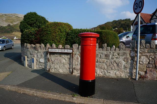 Victorian postbox on Bryn Y Bia Road, Llandudno