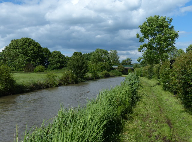 The Oxford Canal and towpath at Ansty