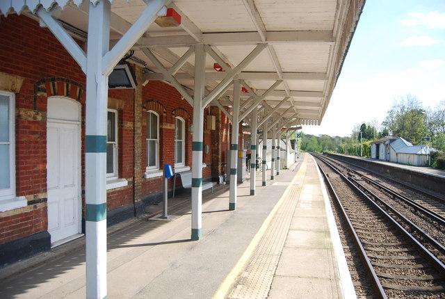Station canopy, Ockley Station
