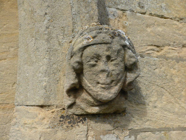 St. Peter ad Vincula, Medieval carving of a lady's head