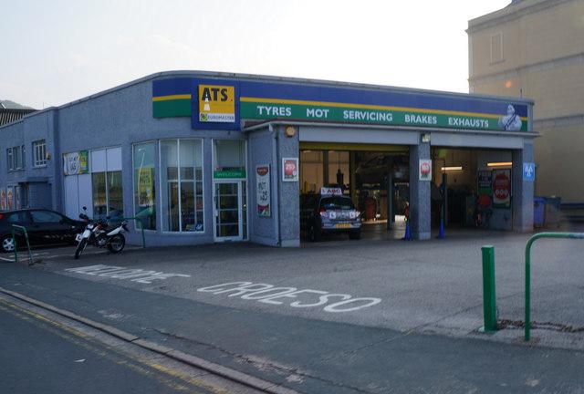 ATS Garage on Colwyn Road, Llandudno