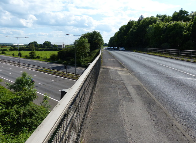 Hinckley Road crossing the M69 motorway