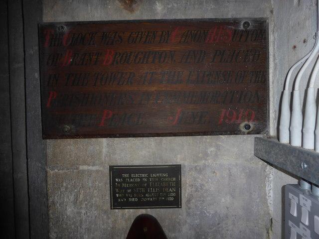 St. Peter ad Vincula, Commemorative plaques