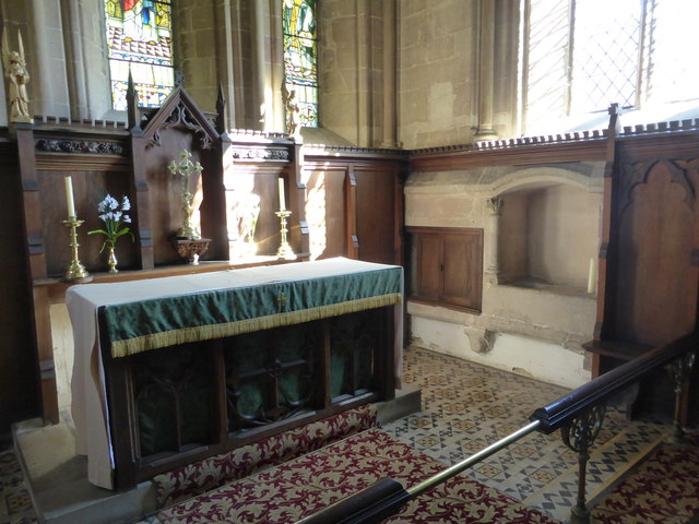 St. Peter ad Vincula, Altar, Piscina, and Aumbry