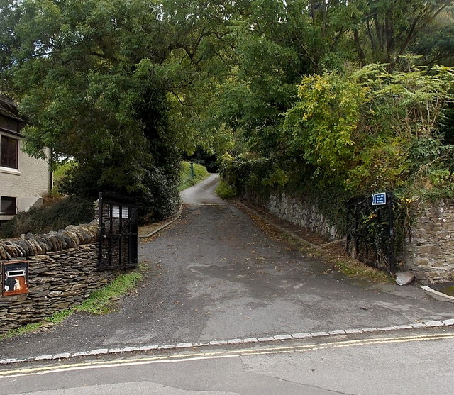 Open gates at an entrance to a BT site in Lynton