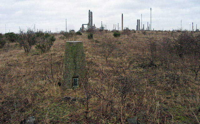 Trig point on desolate land