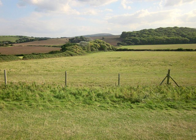 Fields by the coast west of Kilve